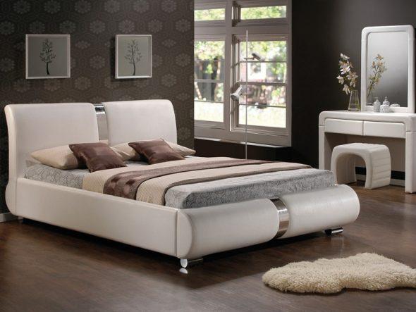 Кровать из кожи для вашей спальни