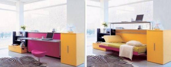 Стол-кровать в интерьере