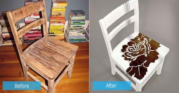 стул ло и после реставрации