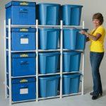 Удобный стеллаж для системы хранения