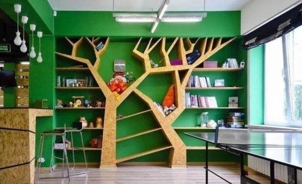 Встроенные полки для книг