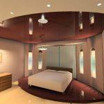 Зеркальный бордовый подиум с кроватью