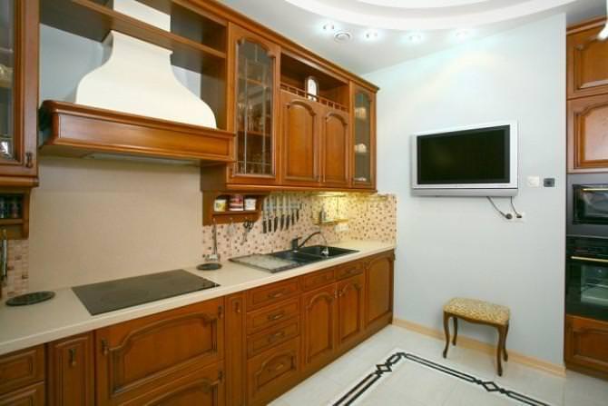 кухонные шкафы на стене
