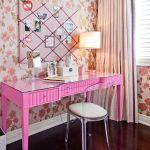 туалетный столик розовый