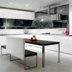 Черный и белый для современной кухни