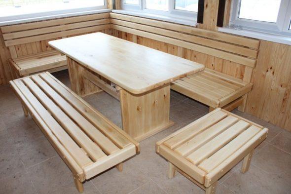 Деревянная мебель для дачи своими руками
