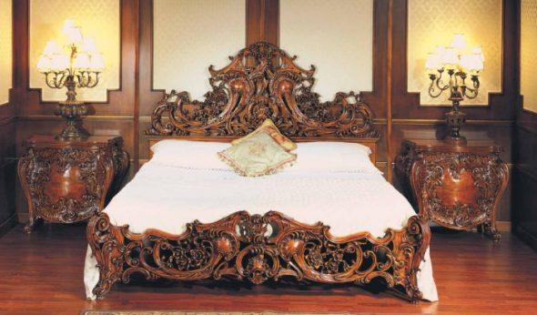 Деревянная мебель для спальни в стиле барокко