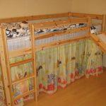 Детская кровать с горкой своими руками