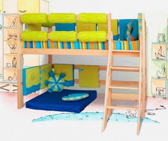 """Детская кровать с игровой зоной """"Морячок"""""""