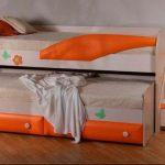 Детские оранжевые кровати-матрешки