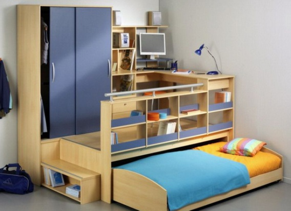 Детский компактный мебельный комплект