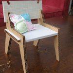 Детский стульчик из картона