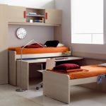 Двухъярусная кровать-трансформер со столом