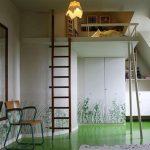 Идея интерьера для комнаты в стиле лофт