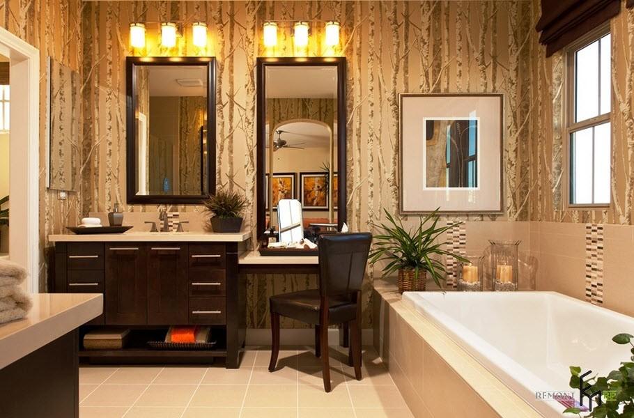 столик для макияжа в ванной