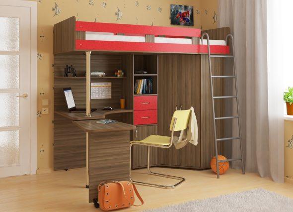 Компактная детская мебель для маленькой комнаты