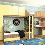 Комплект мебели для двоих детей с рабочим столом
