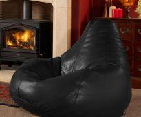 Кожаное кресло-мешок