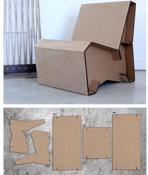 Кресло из бумаги и картона схема