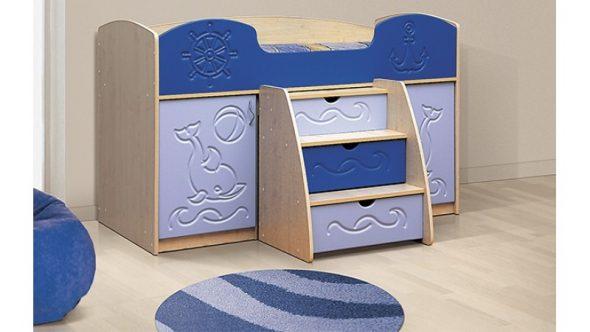 """Кровать чердак """"Омега"""" с выдвижным столом"""