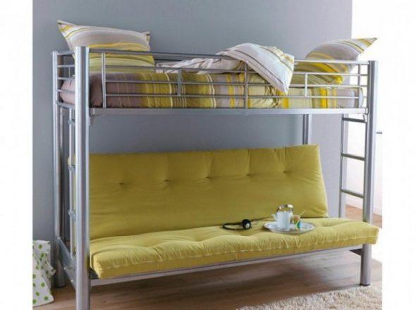 Кровать-чердак от Икеа с диваном внизу