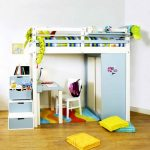 Кровать-чердак с шкафчиком и зоной для игр