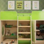 Кровать-чердак-шкаф детская игровая