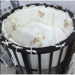 Кровать детская круглая с медвежатами