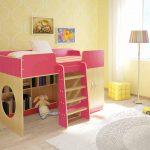 """Кровать для детей """"Сказка"""" с полками внизу"""