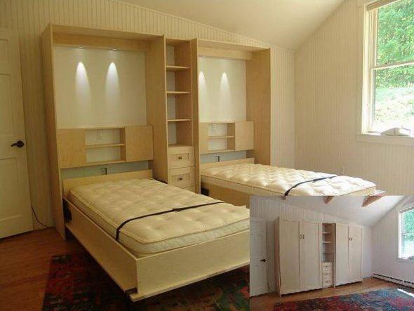 Кровать-шкаф для двоих детей