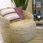 Круглое плетеное кресло своими руками