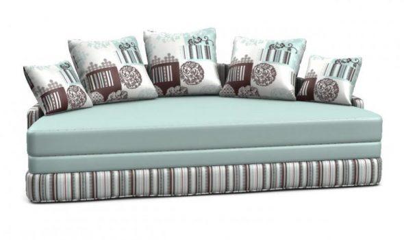 Круглый диван-кровать в сложенном виде