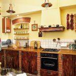 Кухня в деревенском стиле самостоятельного изготовления