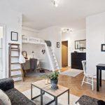 Квартира в скандинавском стиле с мебелью трансформер