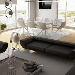 Лаконичная и многофункциональная мебель для столовой-гостиной