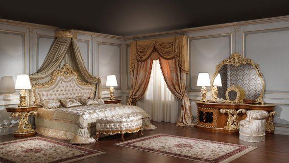 Люксовая спальня в стиле барокко
