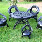 Мебель из шин для дачи и сада