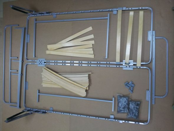 Механизм трансформации вертикальной шкаф-кровати