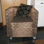 Мягкое кресло своими руками на колесиках