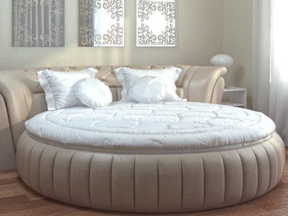 Необычное круглое одеяло для круглой кровать