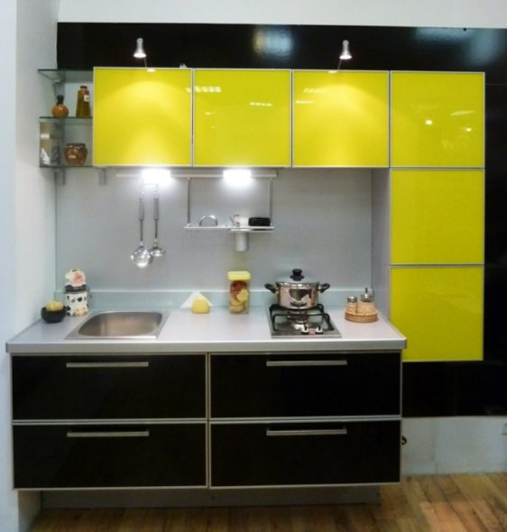 Нестандартная маленькая кухня