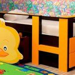 """Низкая детская кровать """"Цыпленок"""""""
