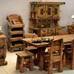 Очень красивая кухня из дерева под старину