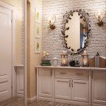 Освещение и элементы декора для прихожей в стиле прованс