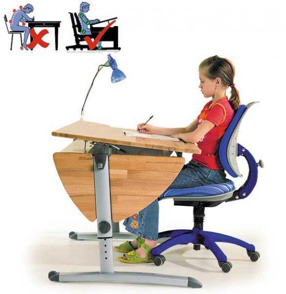 Правильный детский ортопедический стул