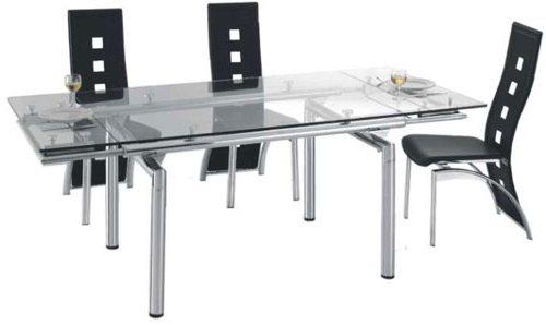 Прямоугольный стеклянный стол