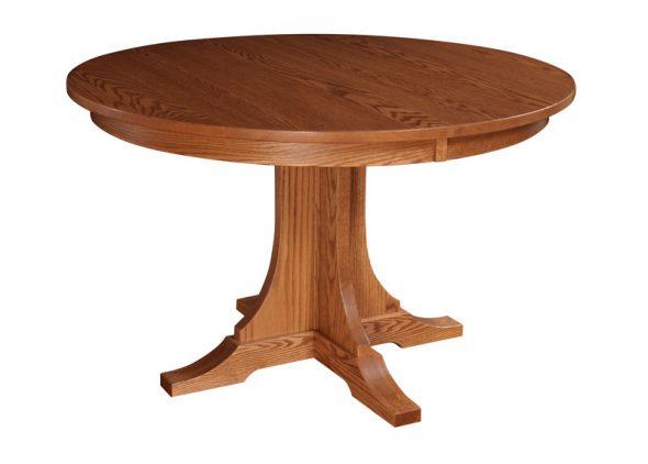 Раскладной круглый стол из дерева