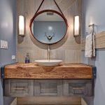 Шикарная ванна в ореховом оформлении