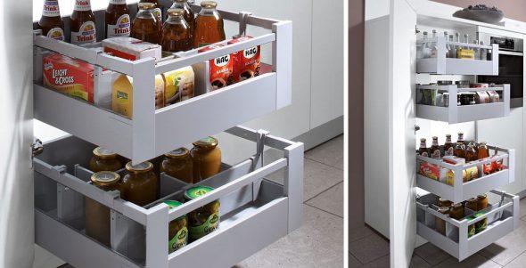 Шкаф-пенал с выдвижными ящиками