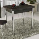 Складной обеденный стол с хромированными ножками